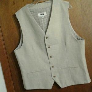 Joseph Abboud Vest Size XL Cream